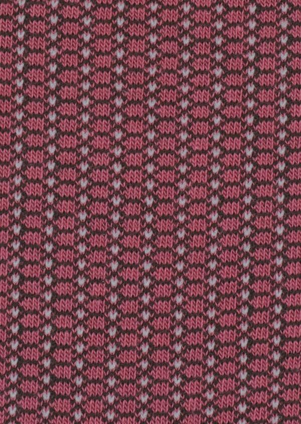Chaussettes en coton mélangé rose à motif fantaisie vert kaki et gris - Father and Sons 37100