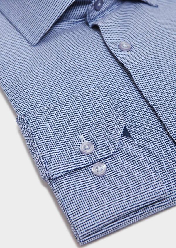 Chemise habillée Slim en coton à motif fantaisie bleu - Father and Sons 31810
