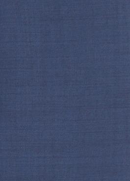 Costume 2 pièces Slim en laine unie bleu indigo 2 - Father And Sons