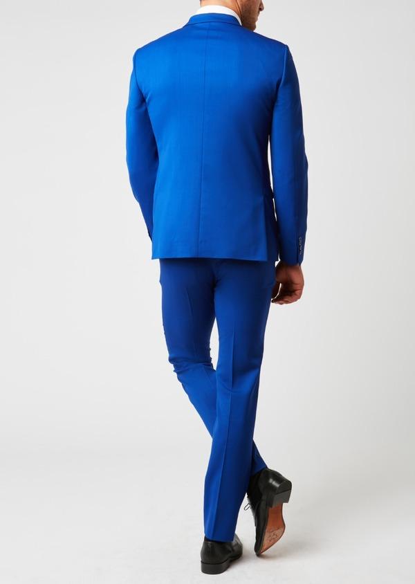 Costume 2 pièces Slim en laine unie bleu roi - Father and Sons 37368