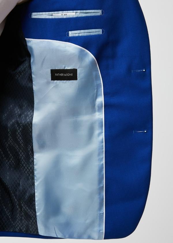 Costume 2 pièces Slim en laine unie bleu roi - Father and Sons 37370