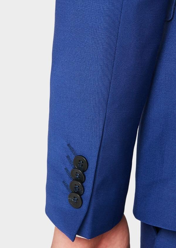 Costume 2 pièces Slim en laine mélangée unie bleue - Father and Sons 37377
