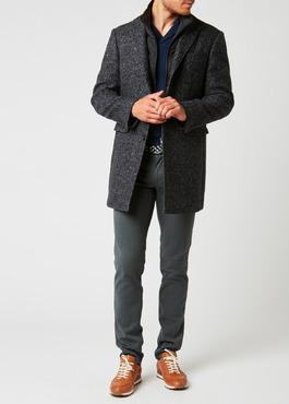 Manteau à motif fantaisie gris anthracite chiné 2 - Father And Sons