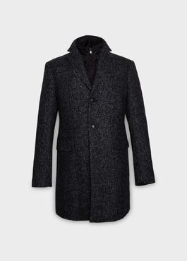 Manteau à motif fantaisie gris anthracite chiné 1 - Father And Sons