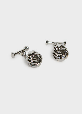 Boutons de manchettes fantaisie noeuds argent 1 - Father And Sons