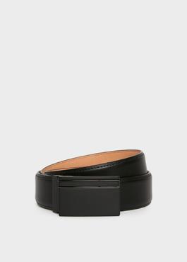 Ceinture ajustable en cuir lisse noir 1 - Father And Sons
