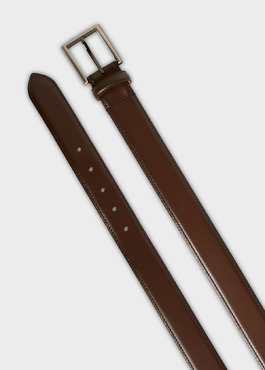 Ceinture en cuir lisse taupe 2 - Father And Sons