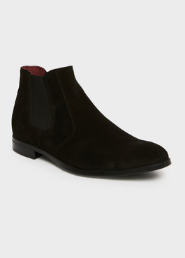 Bottines Chelsea en daim noir 1 - Father And Sons