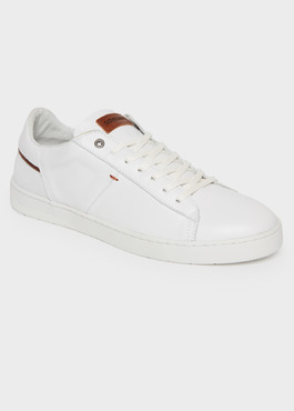 Baskets basses en cuir blanc 1 - Father And Sons