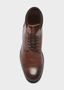 Boots à lacet en cuir marron 2 - Father And Sons