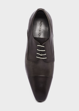 Derbies en cuir gris anthracite 2 - Father And Sons