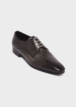 Derbies en cuir gris anthracite 1 - Father And Sons