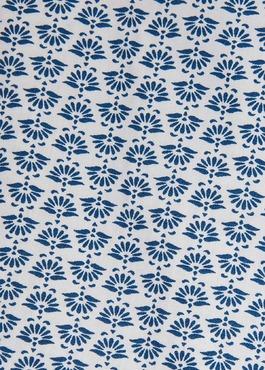 Chemise sport Regular en popeline de coton blanc à motif fantaisie bleu 2 - Father And Sons