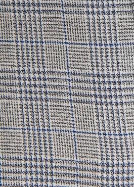 Chemise sport Slim en coton bleu indigo jacquard à motif prince de galles 2 - Father And Sons