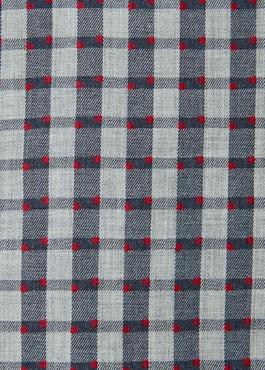 Chemise sport Regular en coton gris foncé à carreaux et pois rouges 2 - Father And Sons