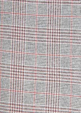Chemise sport Slim en coton gris foncé à motif Prince-de-Galles rouge 2 - Father And Sons