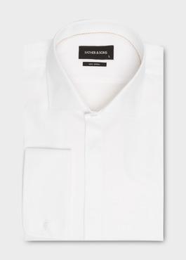 Chemise habillée Regular en façonné de coton écru à motifs fantaisie 1 - Father And Sons