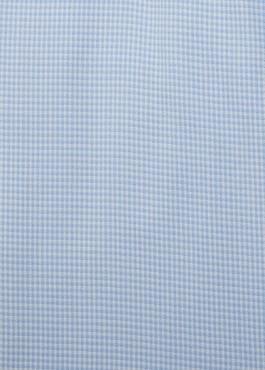 Chemise habillée Slim en popeline de coton à carreaux bleu ciel 2 - Father And Sons