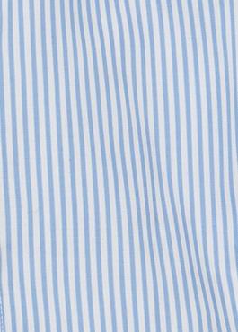 Chemise habillée Slim en popeline de coton à rayures bleu azur 2 - Father And Sons