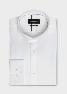 Chemise habillée Slim en satin uni blanc 1 - Father And Sons