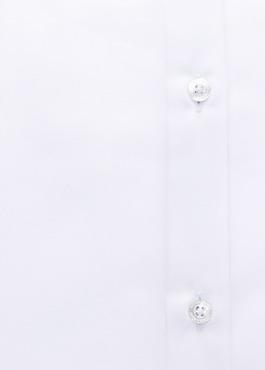 Chemise habillée Slim en popeline de coton uni blanc 2 - Father And Sons