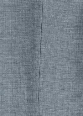 Costume 2 pièces Slim en laine unie bleu chambray 2 - Father And Sons