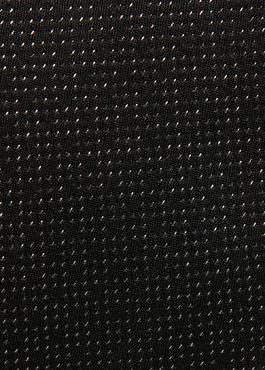 Cravate fine en soie noire à motif fantaisie blanc 2 - Father And Sons