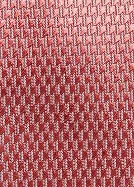 Cravate fine en soie rose à motifs géométriques blancs 2 - Father And Sons