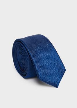 Cravate fine en soie bleu roi 1 - Father And Sons
