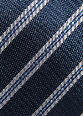 Cravate large en soie indigo à motif fantaisie blanc 2 - Father And Sons