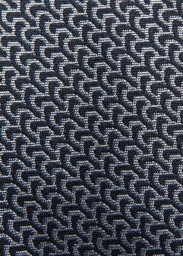 Cravate large en soie marine à motif fantaisie gris 2 - Father And Sons
