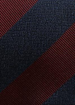 Cravate fine en soie bordeaux à motif fantaisie 2 - Father And Sons