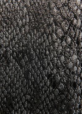 Cravate fine en soie grise foncée à motif fantaisie ton sur ton 2 - Father And Sons