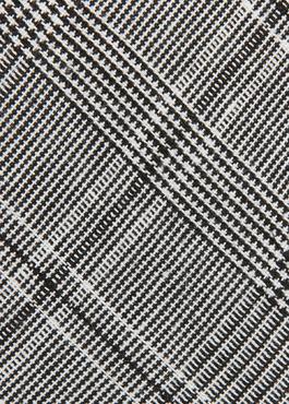 Cravate fine grise à motif fantaisie noir 2 - Father And Sons