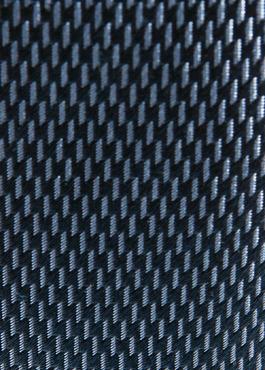 Cravate large en soie indigo à motif fantaisie bleu clair 2 - Father And Sons