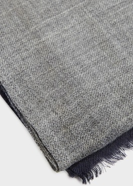 Écharpe en laine grise imprimé dégradé 2 - Father And Sons
