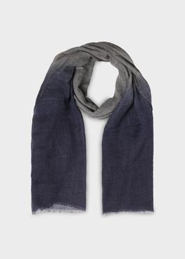 Écharpe en laine grise imprimé dégradé 1 - Father And Sons