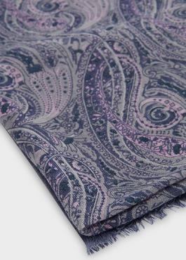 Écharpe en laine violette à motif fantaisie 2 - Father And Sons