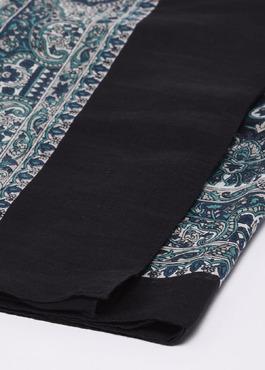Echarpe en coton à motif cachemire bleu et gris 2 - Father And Sons