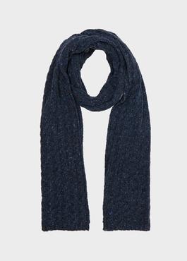 Echarpe en laine mélangée bleu unie 1 - Father And Sons