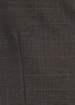 Gilet de costume coordonnable en laine mélangée marron Prince de Galles 2 - Father And Sons
