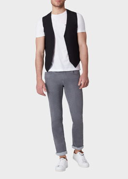 Gilet casual Edition Limitée Ardif uni noir 2 - Father And Sons