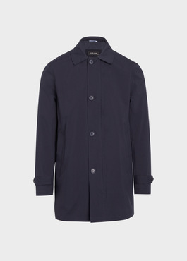 Trench droit de voyage uni bleu marine 1 - Father And Sons