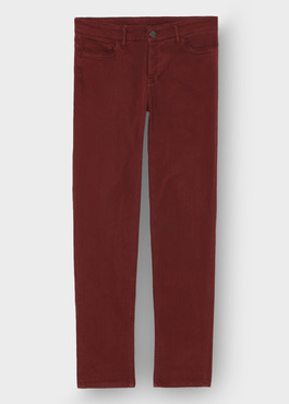 Jean skinny en coton stretch rouge brique 1 - Father And Sons