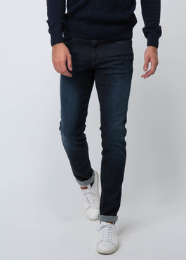 Jean skinny en coton stretch bleu marine 2 - Father And Sons