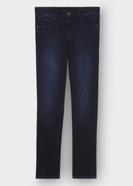 Jean skinny en coton stretch bleu marine 1 - Father And Sons