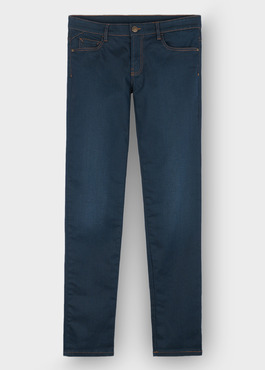 Jean skinny en coton stretch bleu-vert 1 - Father And Sons