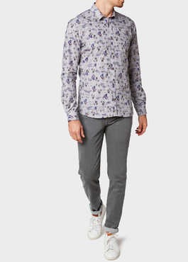 Jean skinny en coton stretch gris clair 2 - Father And Sons