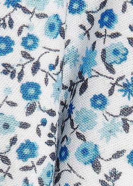 Noeud-papillon en coton blanc à motif fleuri bleu 2 - Father And Sons