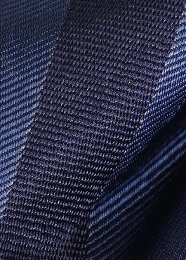 Noeud-papillon en soie bleu marine à rayures 2 - Father And Sons